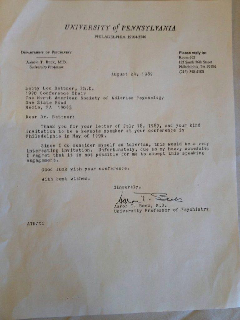 ベックからの手紙